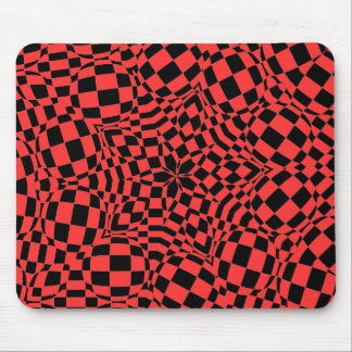 Checkers custom background color mouse pad