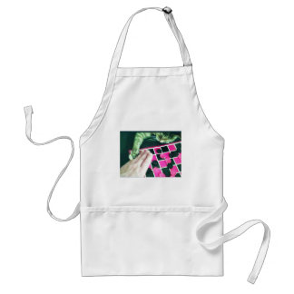 Checkers kitty! adult apron