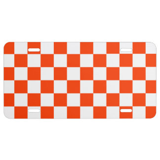 Checkers License Plate