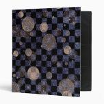 Checkers N Dots Vinyl Binder