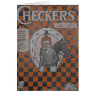 Checkers Stationery Note Card