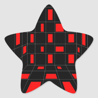 Checkers Star Sticker