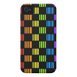 Checkers Stripes and Rainbows Phone Case Cover iPhone 4 Cases