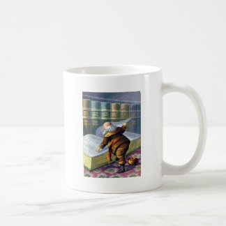 Checking His List Classic White Coffee Mug