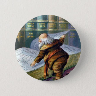 Checking His List Pinback Button