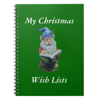 Checking His List Spiral Note Book