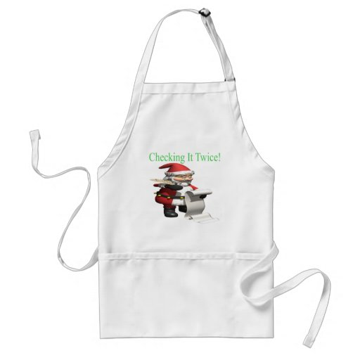 Checking It Twice Aprons