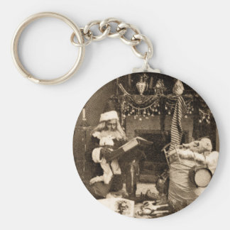 Checking It Twice - Vintage Stereoview Keychain