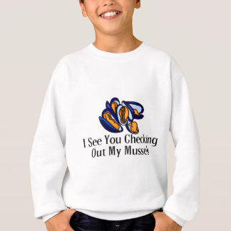Checking Out Mussels Sweatshirt