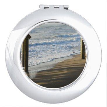 Beach Themed Checking The Shoreline Compact Mirror