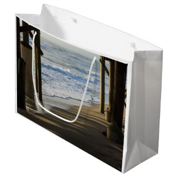 Beach Themed Checking The Shoreline Large Gift Bag