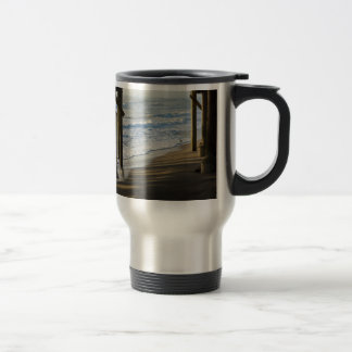 Checking The Shoreline Travel Mug