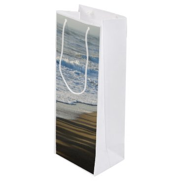 Beach Themed Checking The Shoreline Wine Gift Bag