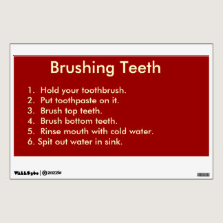 Checklist for Brushing Teeth Wall Decal