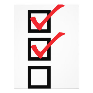 checklist icon full color flyer