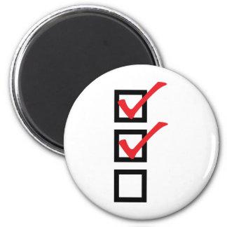 checklist icon magnet