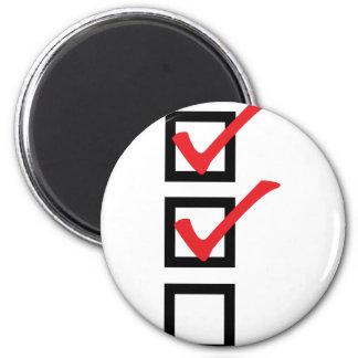 checklist icon refrigerator magnets