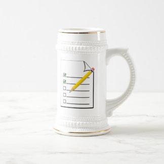 Checklist Coffee Mugs
