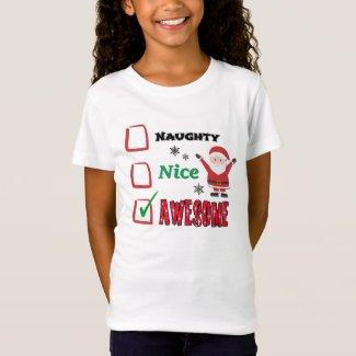 Checklist: Santa's Naughty and Nice List T-Shirt