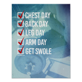 Checklist to get Swole -   Guy Fitness -.png Poster