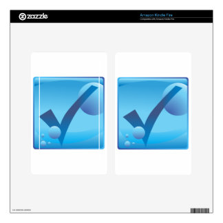 Checkmark Checklist Underwater Blue Icon Button Kindle Fire Decals