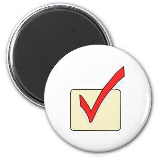Checkmark Sign Fridge Magnets