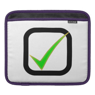 Checkmark Sign Sleeve For iPads