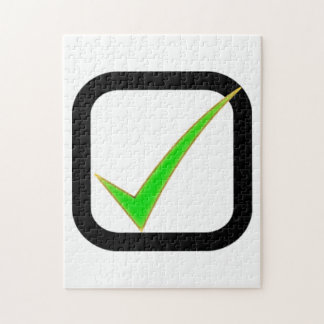 Checkmark Sign Jigsaw Puzzle