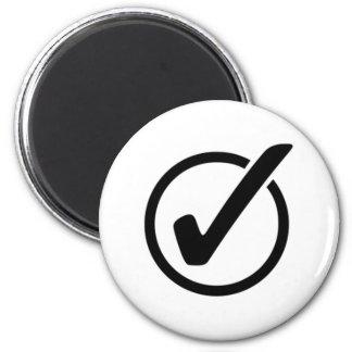Checkmark Sign Magnet