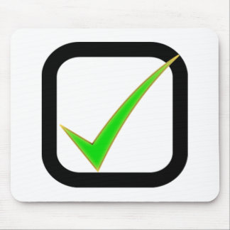 Checkmark Sign Mouse Pad