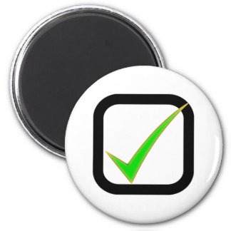 Checkmark Sign Refrigerator Magnet