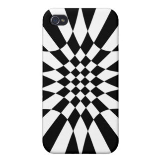 Checkmate-Black and White iPhone 4 Cover