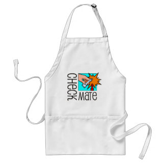 Checkmate! Chess pieces (brainy board game) Adult Apron