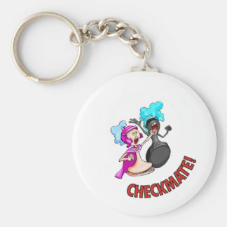 Checkmate! Chess pieces (brainy board game) Keychain