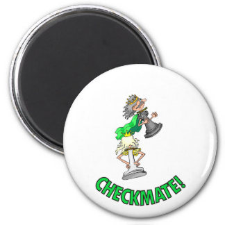 Checkmate! Chess pieces (brainy board game) Refrigerator Magnet