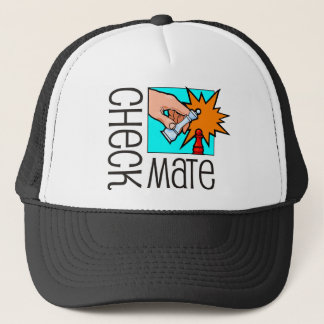Checkmate! Chess pieces (brainy board game) Trucker Hat