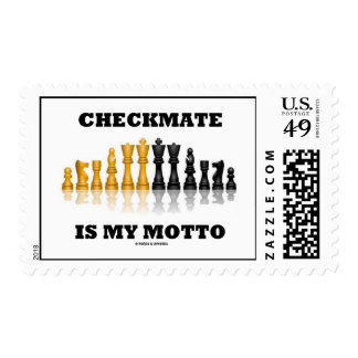 Checkmate Is My Motto (Reflective Chess Set) Postage