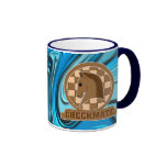 Checkmate Knights Design Coffee Mug