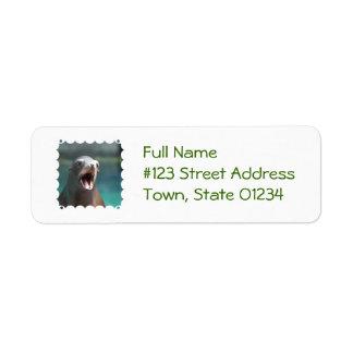 Checkout My Tonsils! Return Address Label