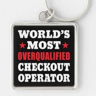 Checkout Operator Funny Slogan Keychain