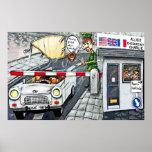 Checkpoint Charlie, Berlín, dibujo animado (grande Posters