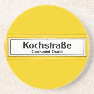 Checkpoint Charlie, Kochstrabe, frontera amarilla Posavasos Para Bebidas