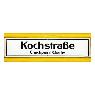 Checkpoint Charlie, Kochstrabe, Yellow Border Double-Sided Mini Business Cards (Pack Of 20)