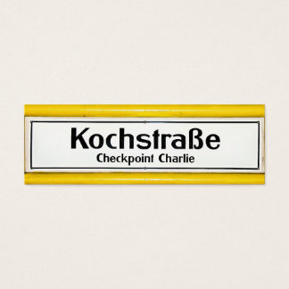 Checkpoint Charlie, Kochstrabe, Yellow Border Mini Business Card