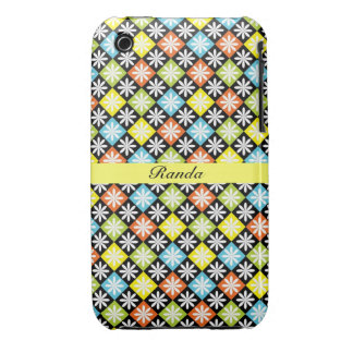 Checks and Flowers iPhone 3 Case