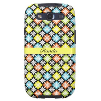 Checks and Flowers Samsung Galaxy Case