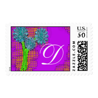 checks flowers, D Postage
