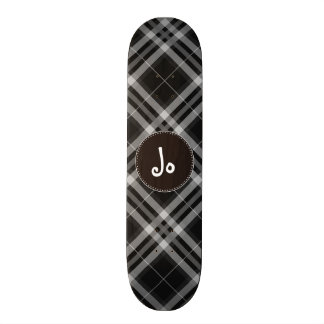 Checks in Black and White Skateboard