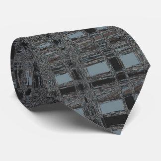 Checks in Black 'n Blue Tie