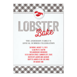 Checks Lobster Bake Annual Summer Party Invite Custom Announcement